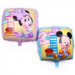 Square Mickey Minnie Foil Balloon