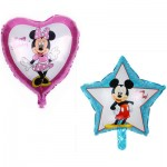 Star &Heart Mickey Mouse Foil Balloon