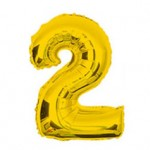 "16"" Glossy Gold Number Foil Balloon 2"