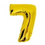 "16"" Glossy Gold Number Foil Balloon 7"