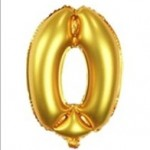 "32"" Gold Number Foil Balloon 0"
