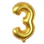 "40"" Gold Number Foil Balloon 3"