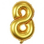 "40"" Gold Number Foil Balloon 8"