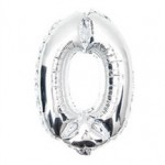 "32"" Silver Number Foil Balloon 0"