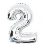"16"" Silver Number Foil Balloon 2"