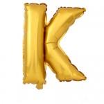 """40"""" Gold Letter Foil Balloon K"""