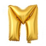 "40"" Gold Letter Foil Balloon M"