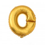 "40"" Gold Letter Foil Balloon O"