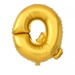 "40"" Gold Letter Foil Balloon Q"