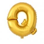 "16"" Matte Gold Letter Foil Balloon Q"