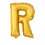 "32"" Gold Letter Foil Balloon R"