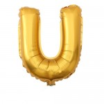 "32"" Gold Letter Foil Balloon U"