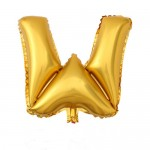 "32"" Gold Letter Foil Balloon W"