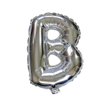 "16"" Silver Letter Foil Balloon B"