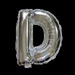 "16"" Silver Letter Foil Balloon D"