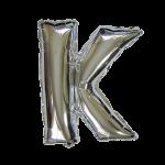 "16"" Silver Letter Foil Balloon K"