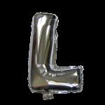 "32"" Silver Letter Foil Balloon L"
