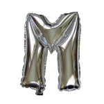 "16"" Silver Letter Foil Balloon M"