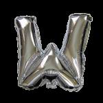 """32"""" Silver Letter Foil Balloon W"""