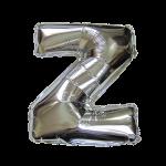 "16"" Silver Letter Foil Balloon Z"