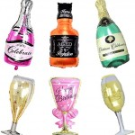 Champagne foil balloons