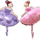 Dancing Girl Foil Balloons