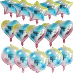 Heart& Star& round foil balloon
