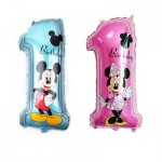 Mickey Mouse 1st Birthday foil Balloons